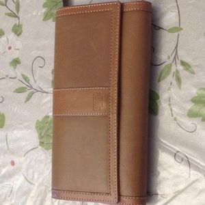 Coach leather wallet trifold